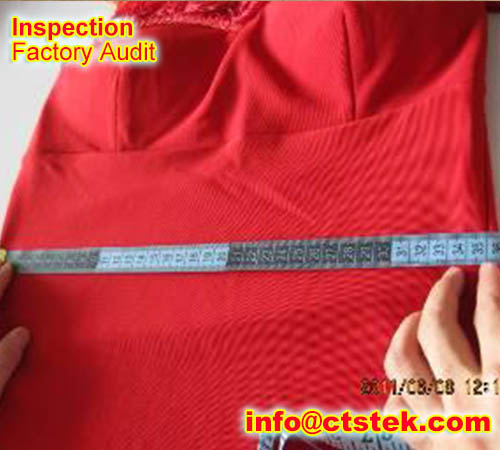 lady dress preshipment inspection